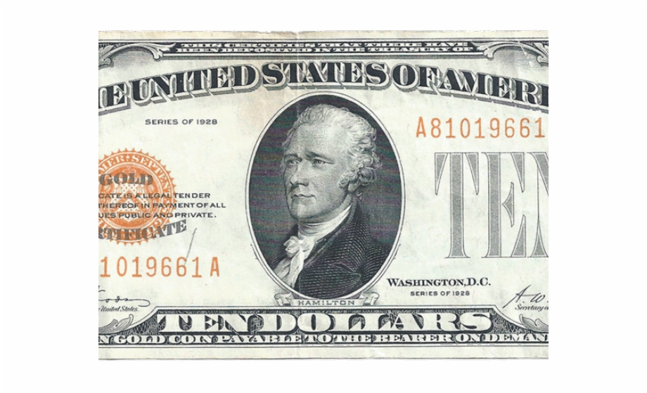 Free clipart dollar 10 transparent library Dollar Clipart $10 - 10 Dollar Bills Series 1928 Free PNG Images ... transparent library