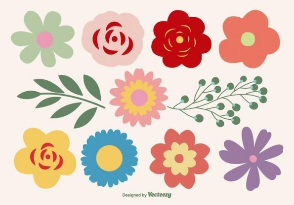 10 flowers clipart png black and white library Flowers Free Vector Art – (10,10 Free Downloads) – flower clipart vector png black and white library