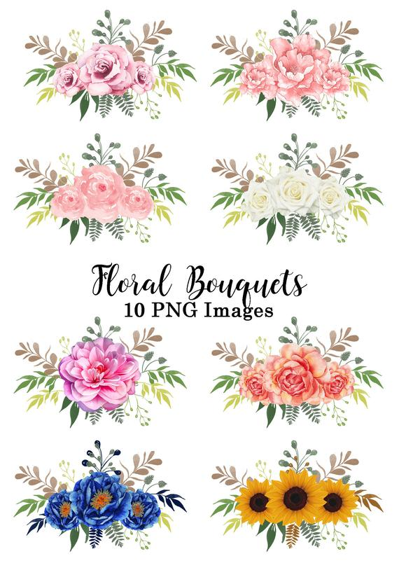 10 flowers clipart banner library library Floral Bouquets, Flower Clipart, Florals Clip Art, Wedding ... banner library library