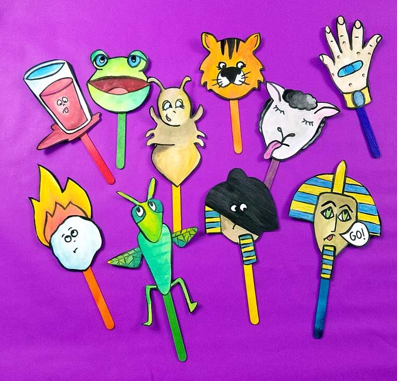 10 makkos clipart picture library stock Pesach Puppets - Makkos Color-in Craft and Coloring Page - Beyond ... picture library stock