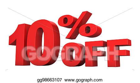 10 percent off clipart clip art transparent library Drawing - 10 percent off. Clipart Drawing gg98663107 - GoGraph clip art transparent library