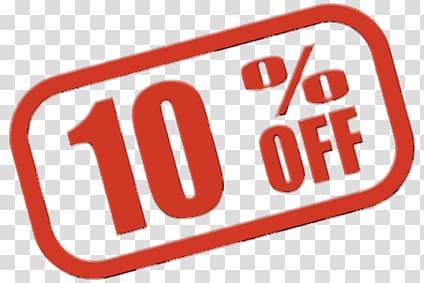 10 percent off clipart image download Red 10 percent off illustration, 10% Off Sign transparent background ... image download
