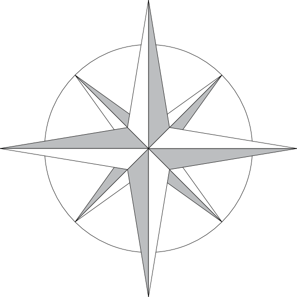 4 point star clipart black and white graphic royalty free stock North Star Clip Art at Clker.com - vector clip art online, royalty ... graphic royalty free stock