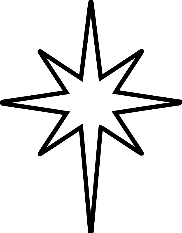 christmas star clip art black and white | The Nativity Star is the ... graphic download
