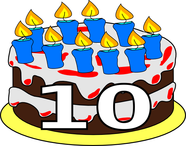 10 years cake clipart jpg freeuse library 10th Birthday Cake Dom Clip Art at Clker.com - vector clip art ... jpg freeuse library