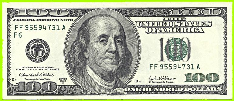clip art clipartfest. 100 bill clipart