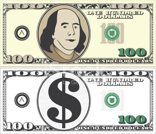 Hundred dollar bill clip art - ClipartFest graphic
