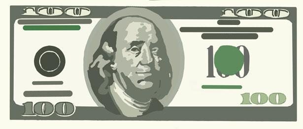 100 bill clip art - ClipartFest graphic free download