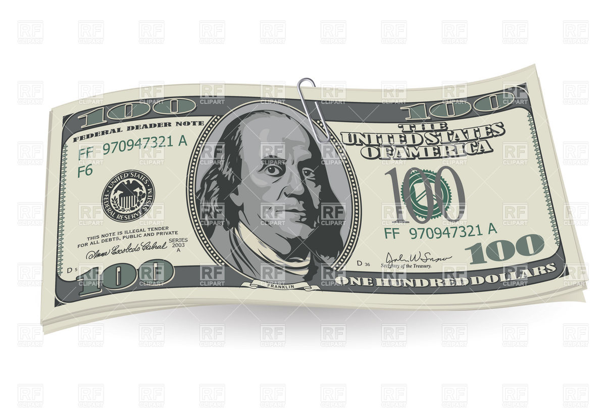 New 100 Dollar Bill Clipart - Clipart Kid banner library library