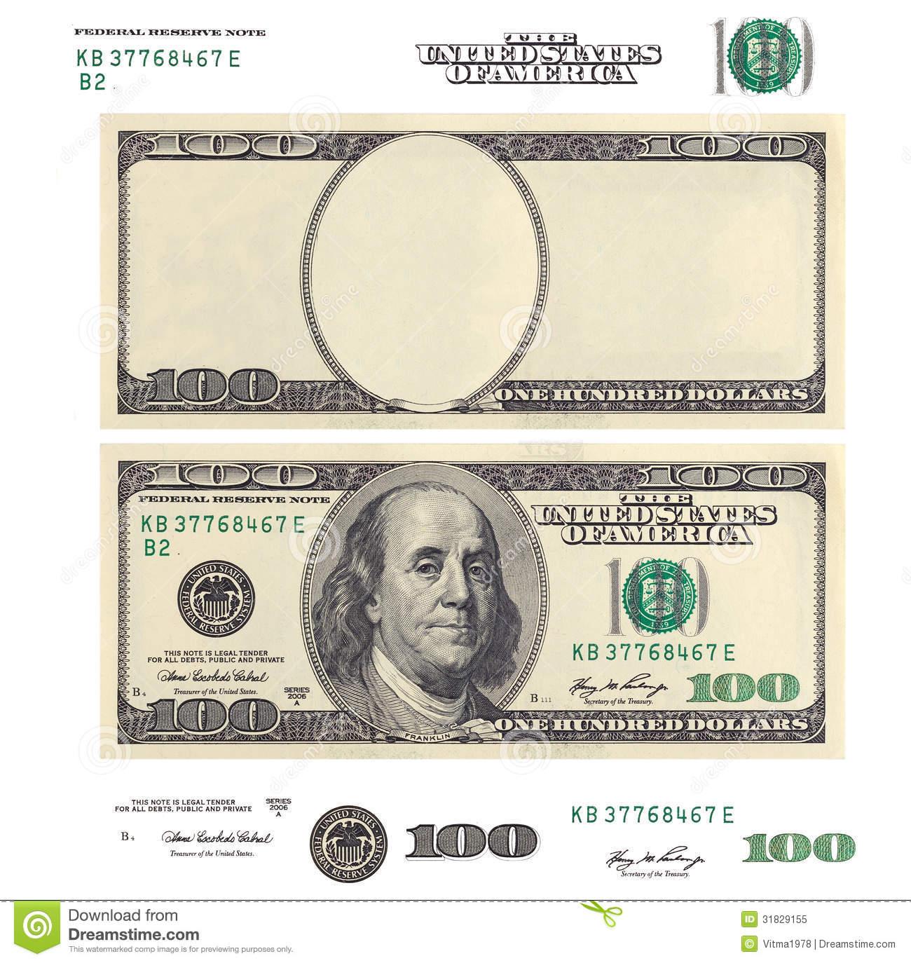 100 bill clipart banner free download Dollar Bill Template Clipart - Clipart Kid banner free download