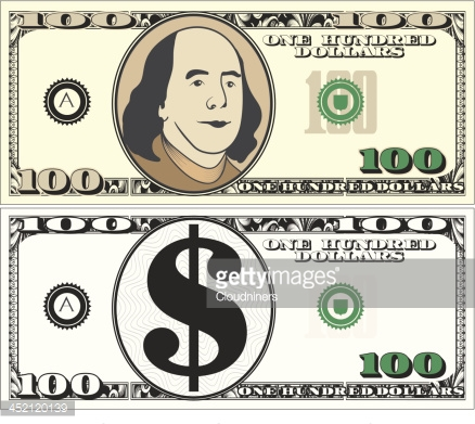 New 100 Us Dollar Cash Vector Art | Getty Images clip art royalty free