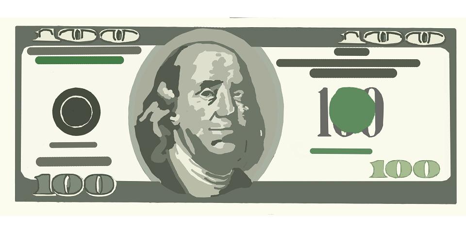 Free illustration: One, Hundred, Dollar, Bill, Money - Free Image ... clip art free stock