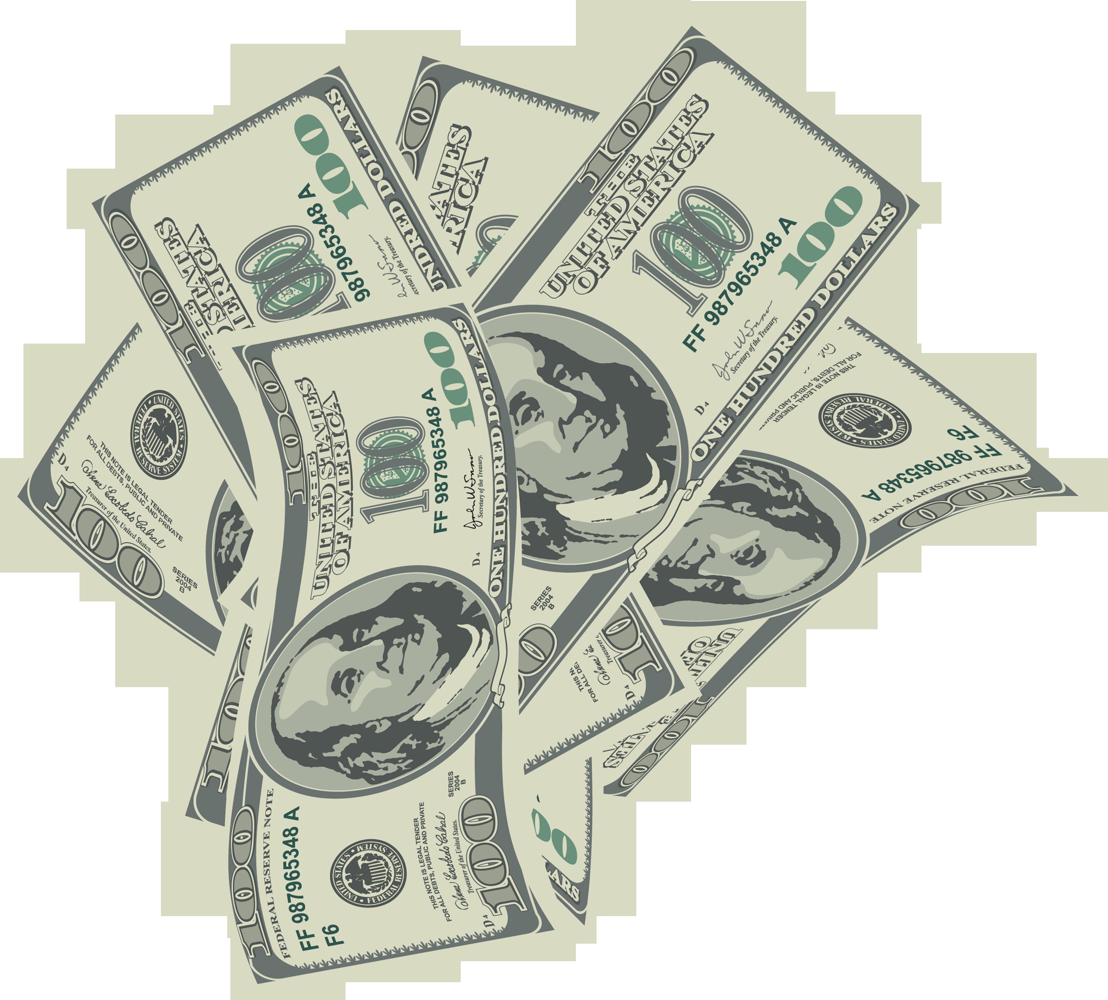 100 bills clipart png jpg transparent stock Large Transparent 100 Dollars Bills PNG Clipart | Gallery ... jpg transparent stock