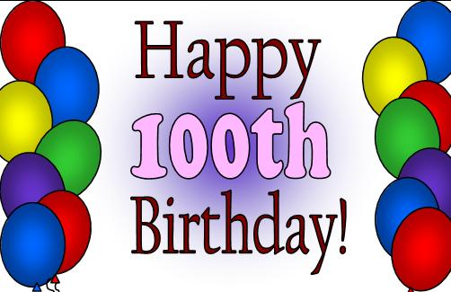 100 birthday clipart image black and white library MY neighbor's 100th birthday - Blogs & Forums image black and white library