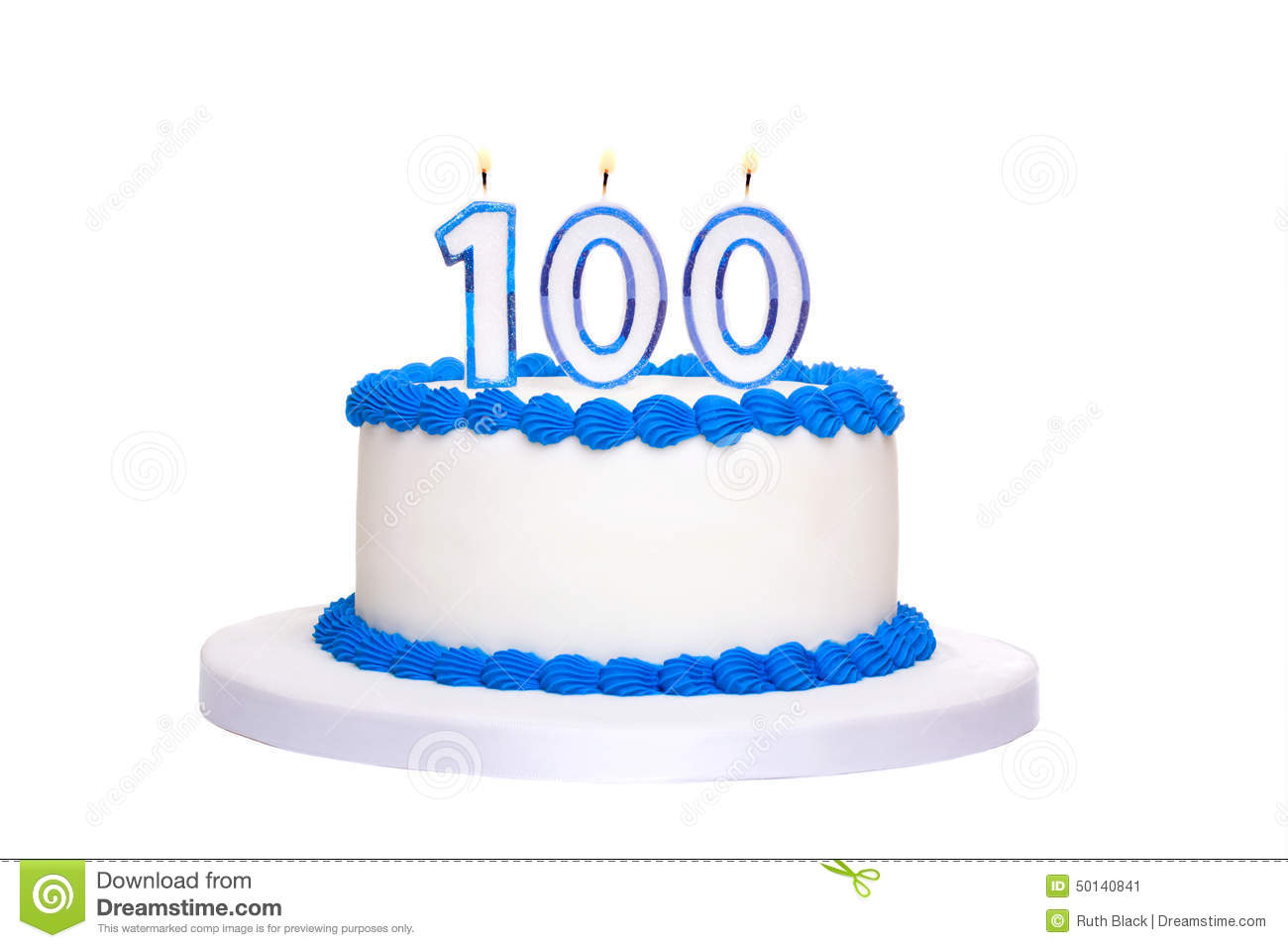 100 birthday clipart black and white download 100th Birthday Cake Stock Photo - Image: 50140841 black and white download