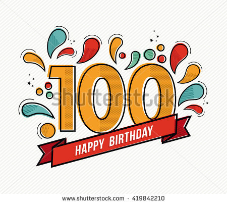 100 birthday clipart clip freeuse download 100th Birthday Stock Images, Royalty-Free Images & Vectors ... clip freeuse download