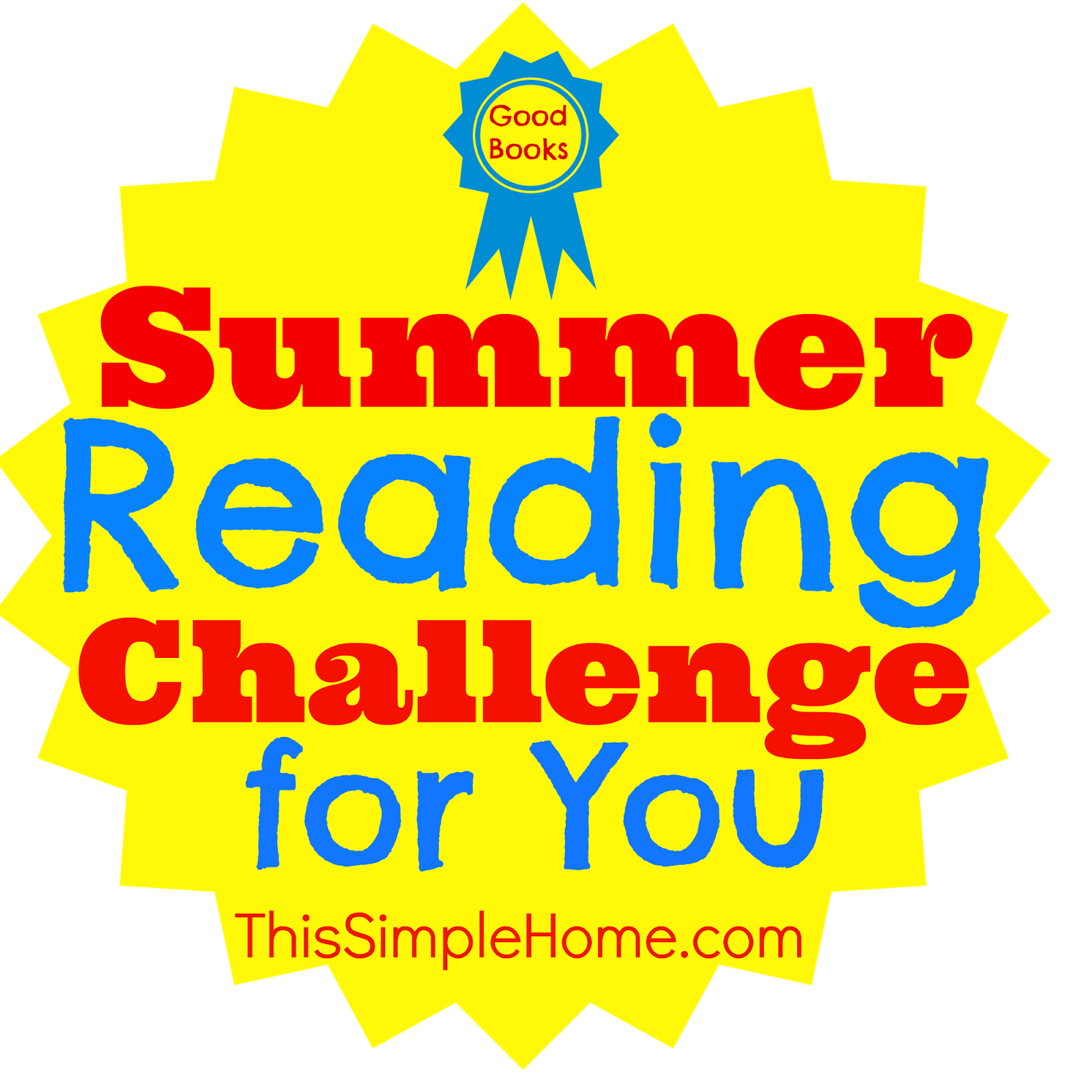 100 book challenge clipart jpg stock This Simple Home: Summer Reading Challenge jpg stock