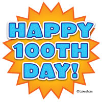 100 day clip art clip free library Free 100th day clipart - ClipartFest clip free library