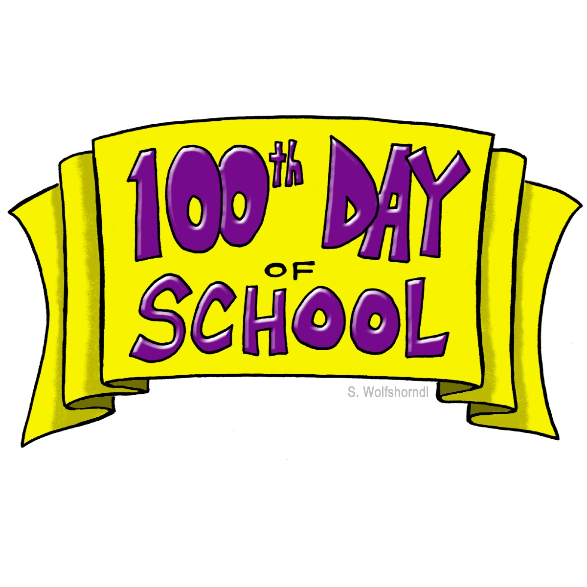 100 day clip art banner free download Free 100th day of school clipart - ClipartFest banner free download
