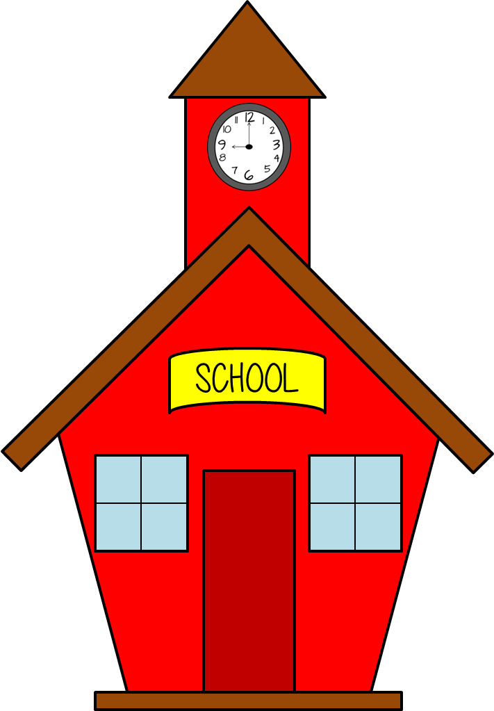 Clipart of a school house