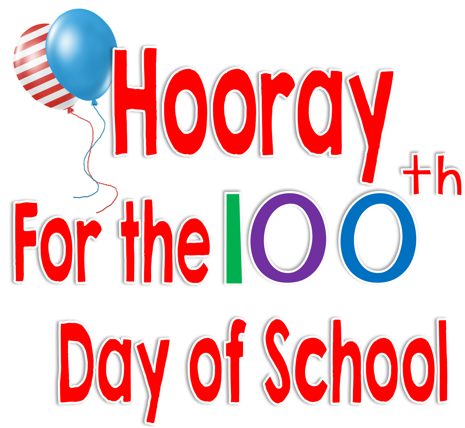 Half day of school clipart vector stock Time 4 Kindergarten: 100th Day of School, Hooray!!! vector stock