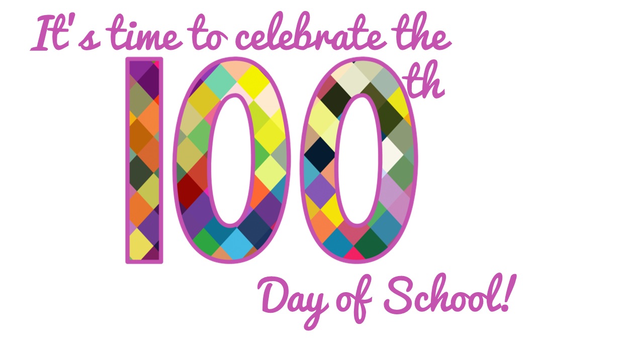 Pajama day at school clipart graphic black and white stock 100th Day of School Fun graphic black and white stock