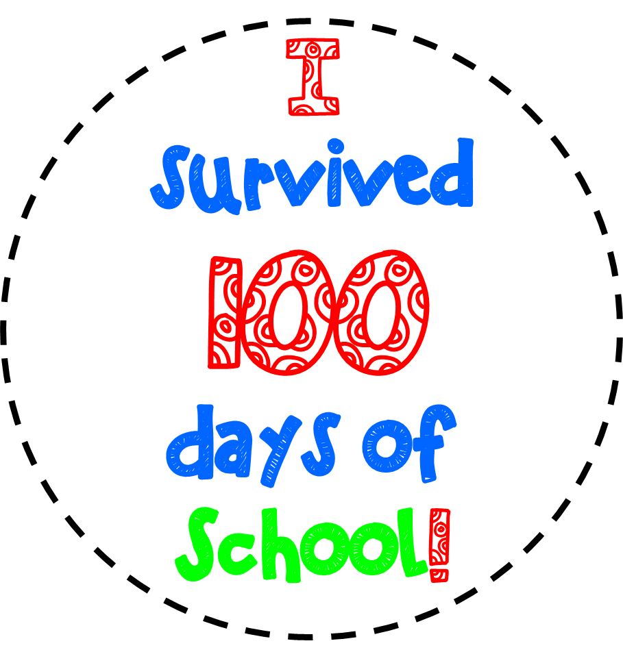 100th day of school clipart free png black and white FREE 100TH DAY OF SCHOOL CLIPART | TpT FREE LESSONS | Pinterest ... png black and white