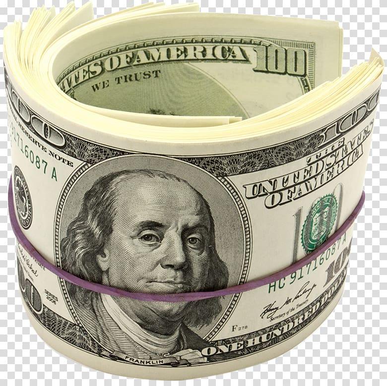100 dollar clipart image transparent stock Bundle of 100 US dollar banknote, Benjamin Franklin United States ... image transparent stock