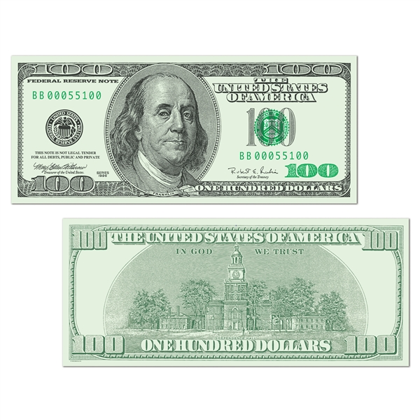 100 dollar cutout clipart jpg royalty free 1 Million Dollar Bill Cutout - Clip Art Library jpg royalty free