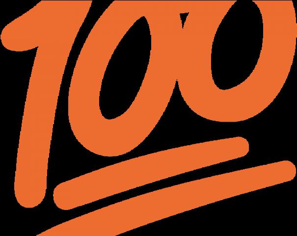 100 percent clipart jpg royalty free download Hand Emoji Clipart 100 Percent - Emoji De Whatsapp Png , Transparent ... jpg royalty free download