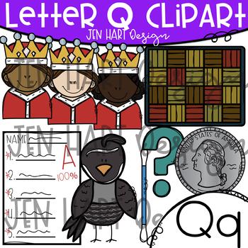 100 sure clipart download Letter Q Clipart - Beginning Sound Clip Art {Jen Hart Clipart} download