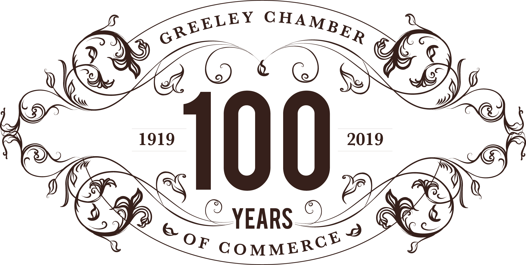 100 year anniversary clipart clip art black and white stock Greeley Chamber - 100th Anniversary Celebration & Annual Banquet clip art black and white stock