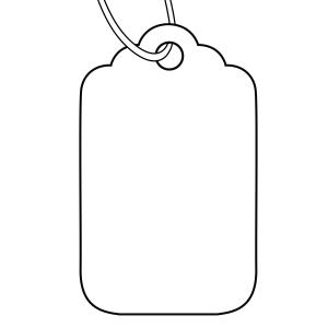 1000 price tag clipart image transparent library Avery White Merchandise Price Tags - Size 23H - 30 x 21 mm - 1000 Tags image transparent library