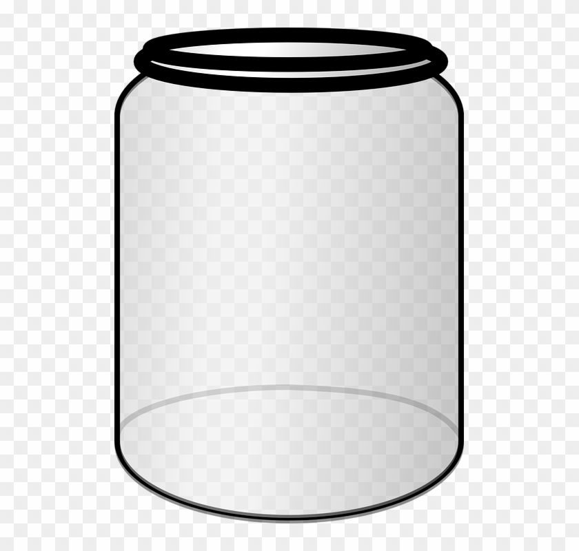 1000ml transparent clipart banner black and white library Jar Open Empty Clear Glass Container - Clip Art Jar Png, Transparent ... banner black and white library