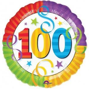 100th birthday balloons clipart banner black and white download Happy 100th Birthday Balloon banner black and white download