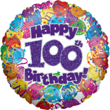 100th birthday balloons clipart banner freeuse stock 100th Birthday Balloon | Amanda Janes | Hemel Hempstead banner freeuse stock