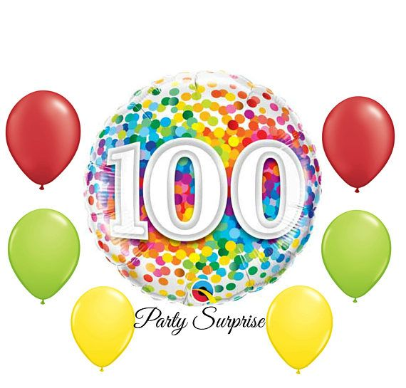 100th birthday balloons clipart graphic royalty free download 100th Birthday Balloon Package 100th Birthday 100 Years | Balloon ... graphic royalty free download