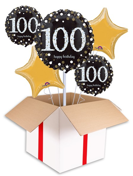 100th birthday balloons clipart banner library library Sparkling 100th Birthday Balloon banner library library