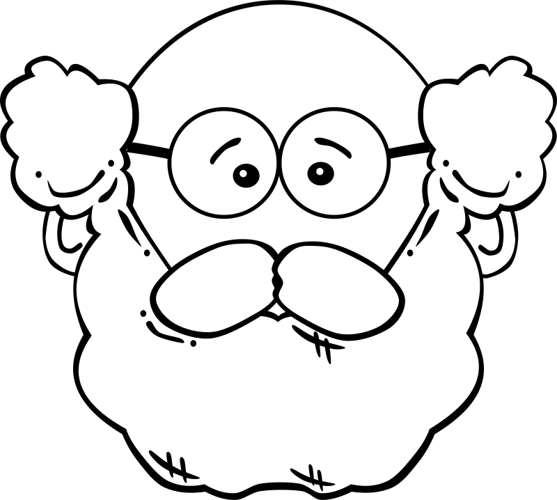 100th day of school clipart black and white graphic freeuse Man Face Cartoon by Gerald_G - Black and white remix. Uploaded by ... graphic freeuse