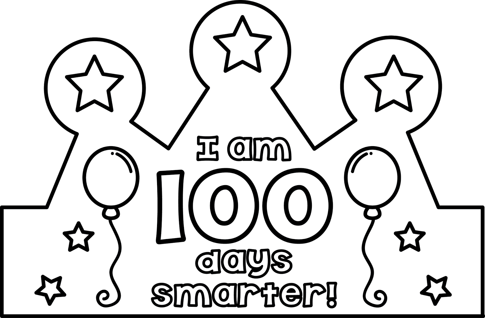 100th day of school clipart black and white graphic library 100th Day Crown (Teacher Laura) | Pinterest | Crown, School and Teacher graphic library