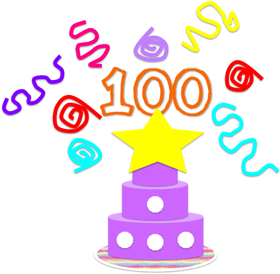 School celebration clipart clip art royalty free FREE Clipart for the 100th Day of School! | fun stuff for primary ... clip art royalty free