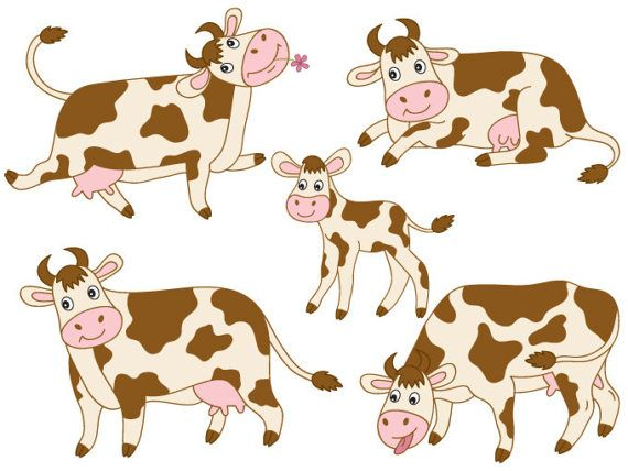 101 dalmatian cows clipart picture transparent library Cows Clipart - Digital Vector Farm, Animal, Calf, Barn Yard, Cow ... picture transparent library