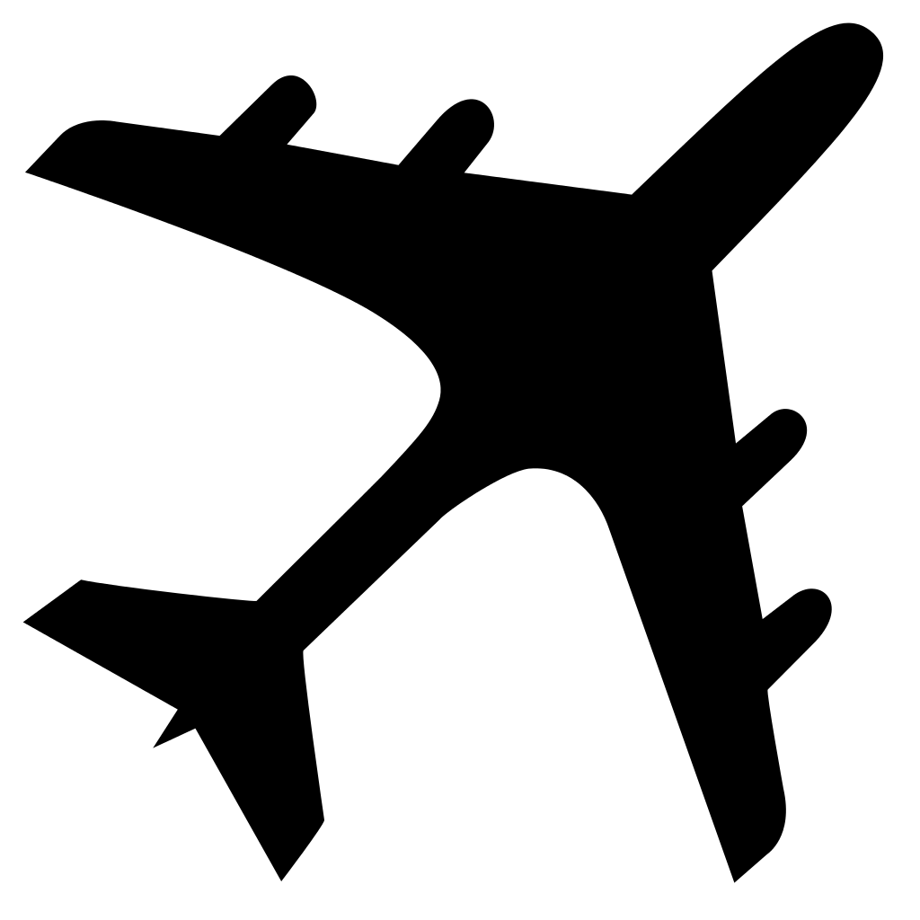 1024x1024 transparent clipart svg royalty free Airplane Silhouette Clip art - airplane png download - 1024*1024 ... svg royalty free