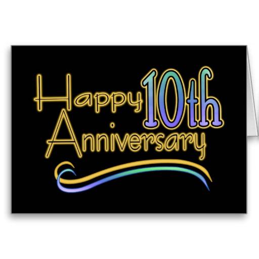 10th anniversary clipart free