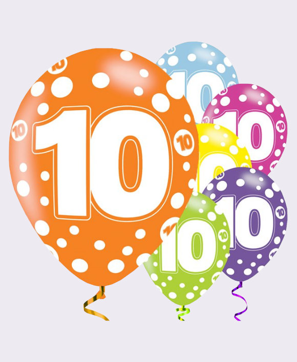 Clipart 10th birthday png freeuse download 10th Birthday Balloons png freeuse download