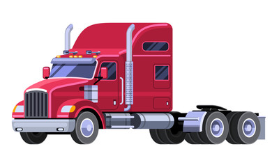 10-wheeler truck sideview clipart png stock Classic tractor truck parts definition. Truck with sleeper cab and ... png stock