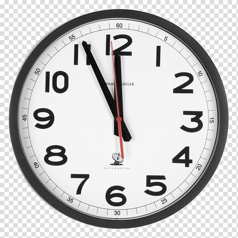 Analogue clock clipart graphic download Round black framed analog clock at 11:00, Alarm clock , Wall Watch ... graphic download