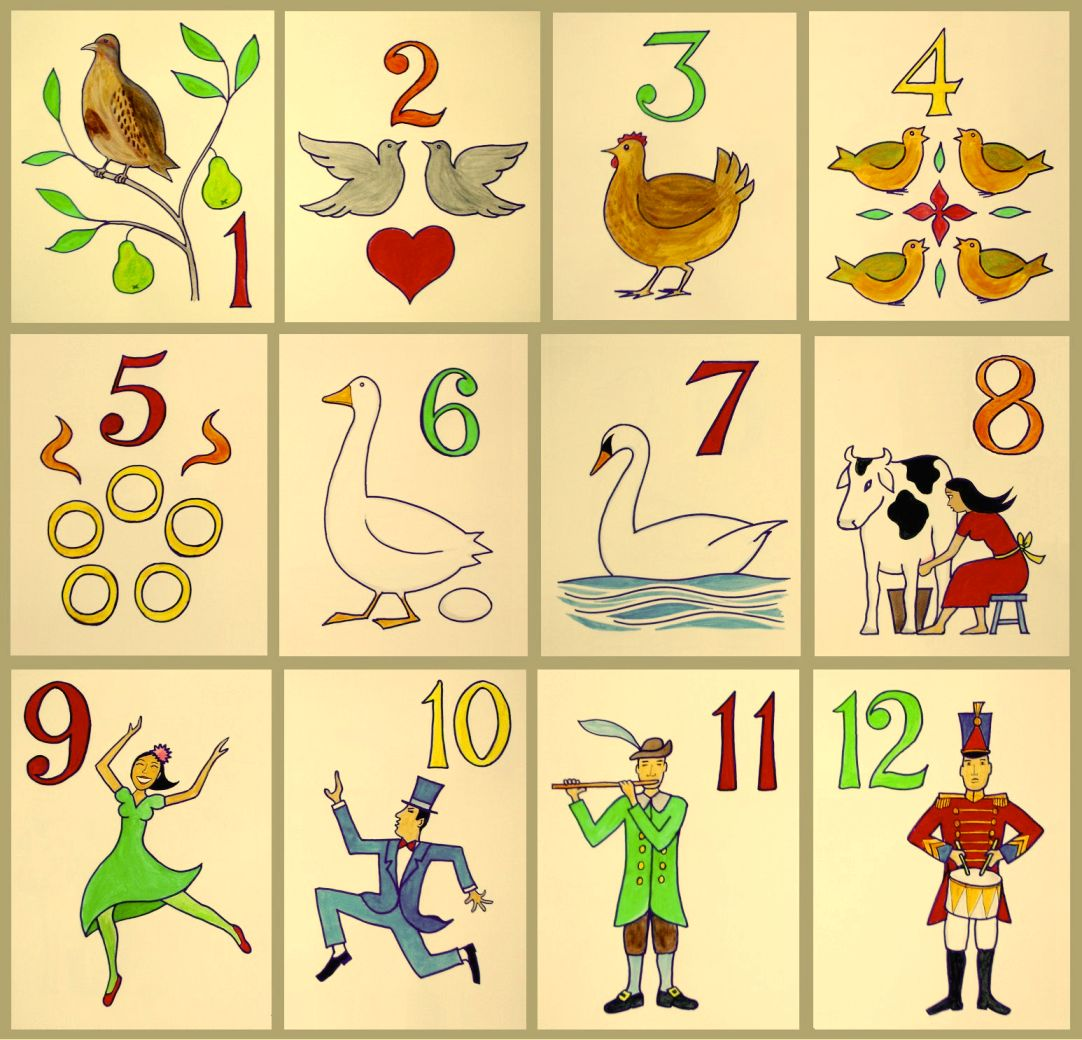 The twelve song wikipedia. Free clipart printables 12 days of christmas