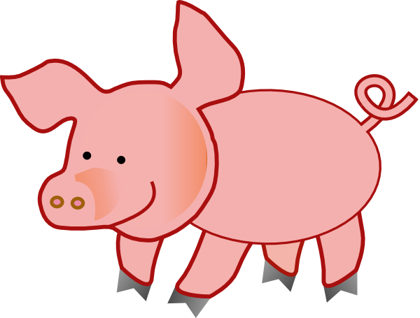 Free clipart of a pig