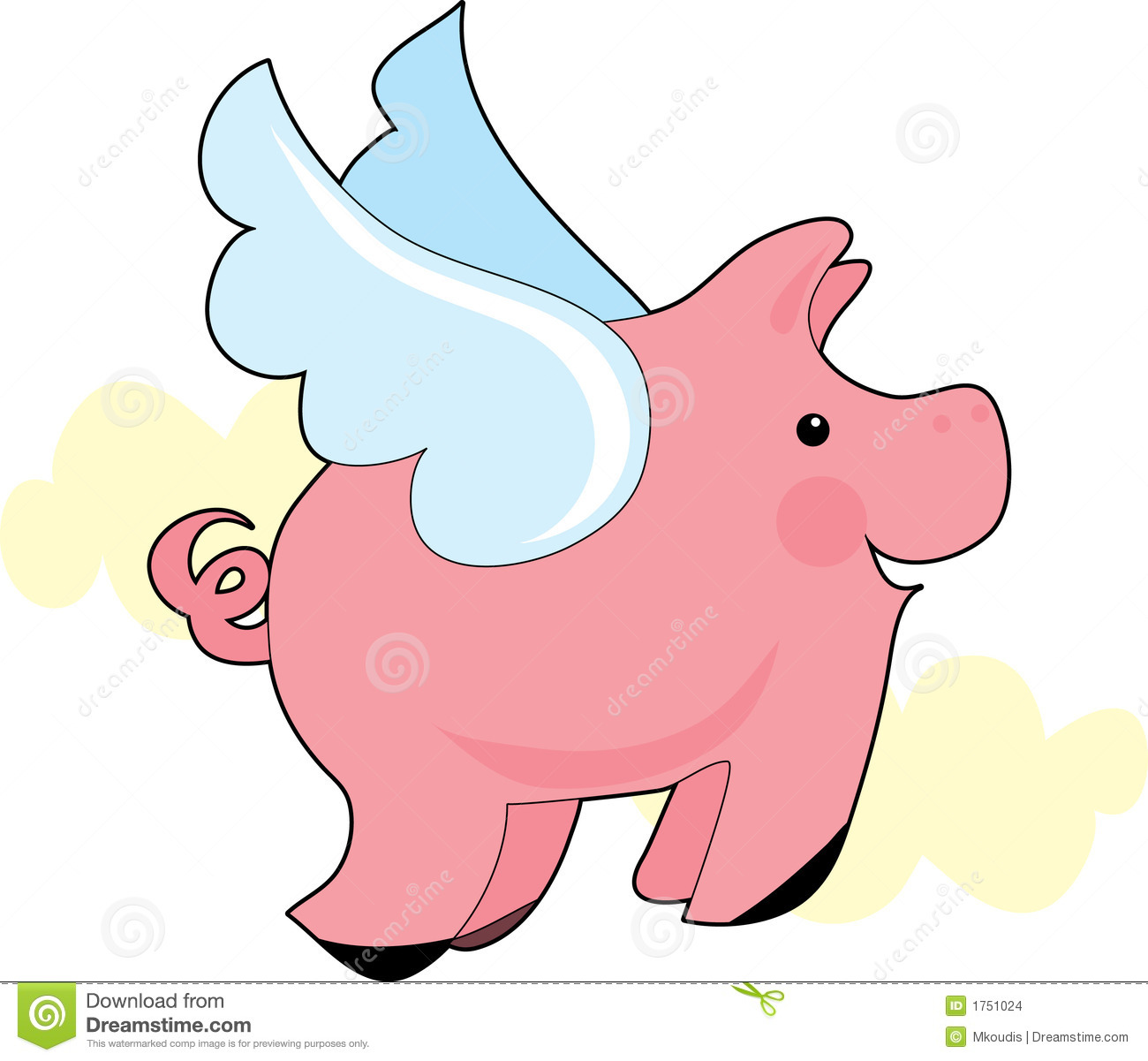 11 pigs clipart image transparent library 11+ Flying Pig Clipart | ClipartLook image transparent library